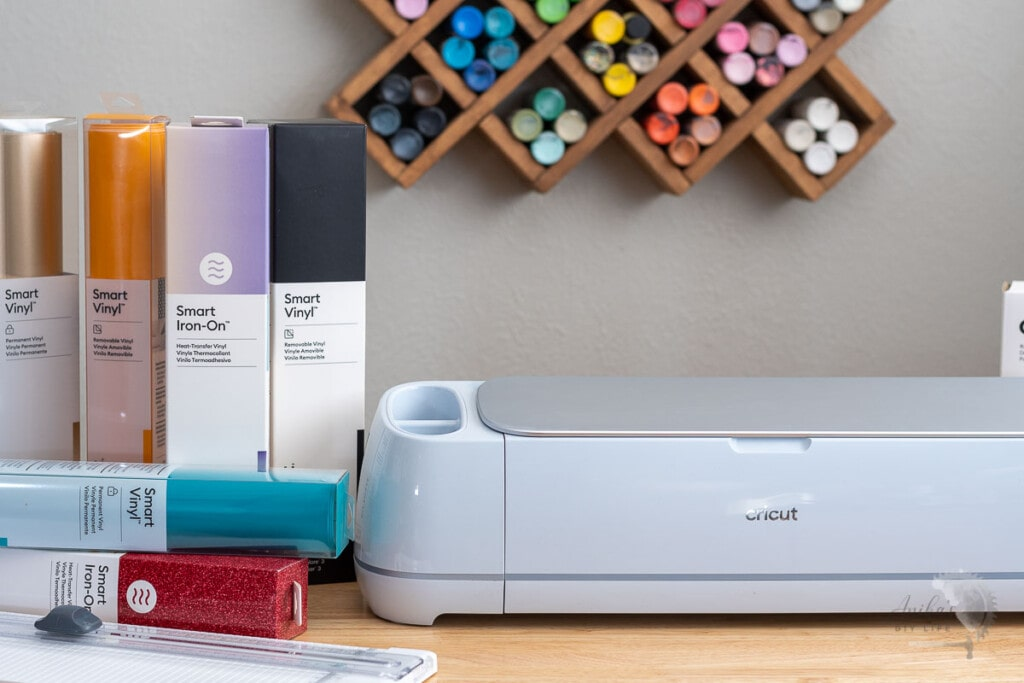 Cricut Maker 3 on table with new Smart Material