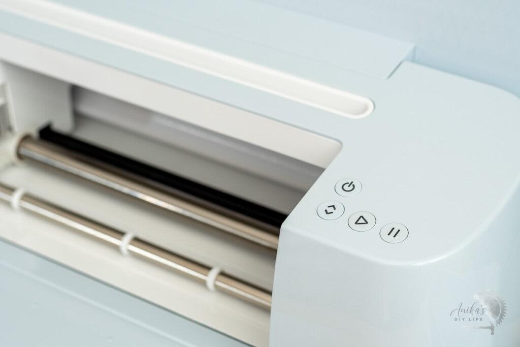 close up of the controls of Cricut Maker 3