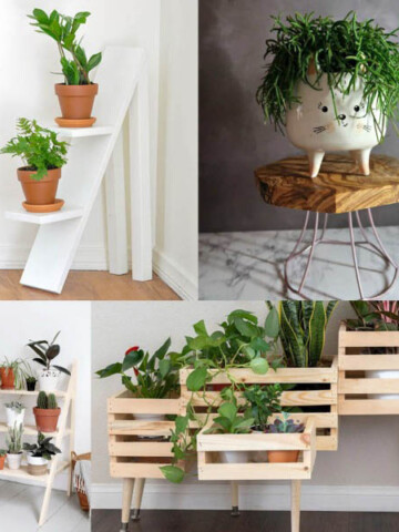 Create the perfect place to showcase plants indoors or outdoors with these creative DIY plant stand ideas. All of these are easy and on-trend.
