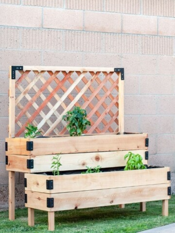 completed DIY raised garden bed