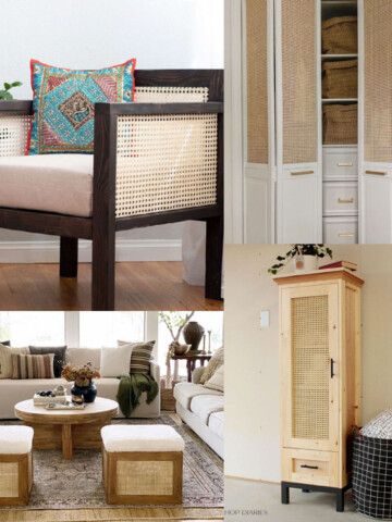 Cane furniture is all the rage right now! See all the possibilities with this list of inspiring DIY Cane Furniture ideas.