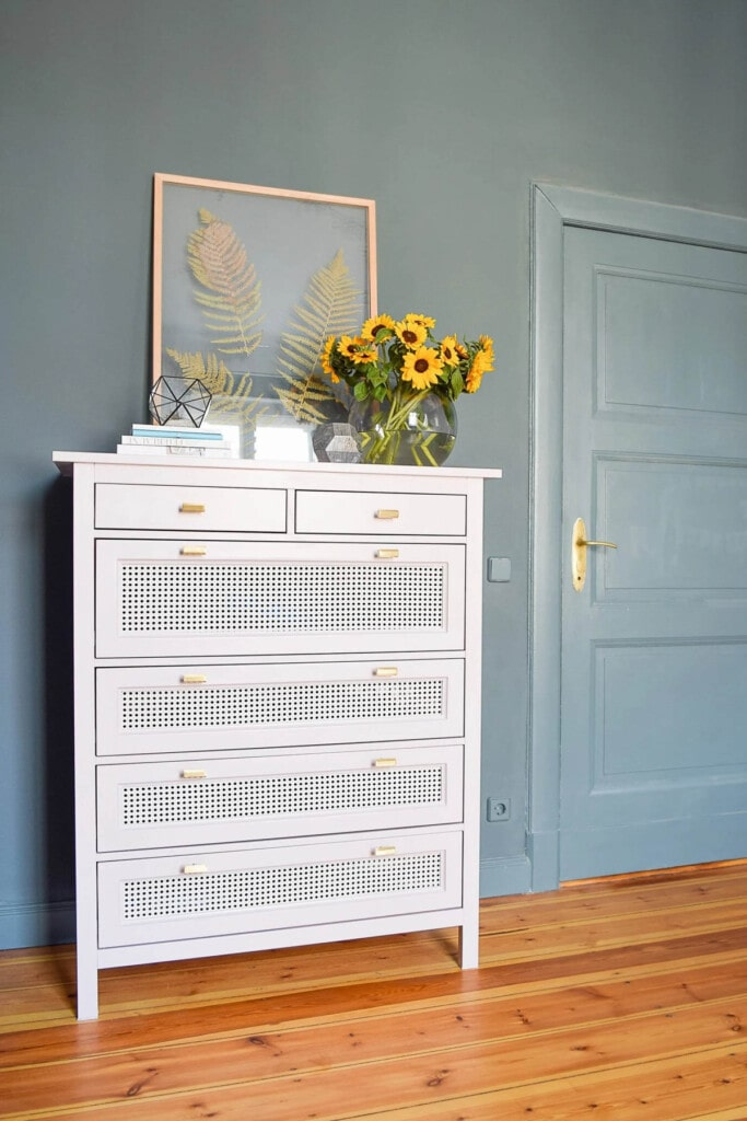 ikea Hemnes dresser with cane webbing drawer fronts
