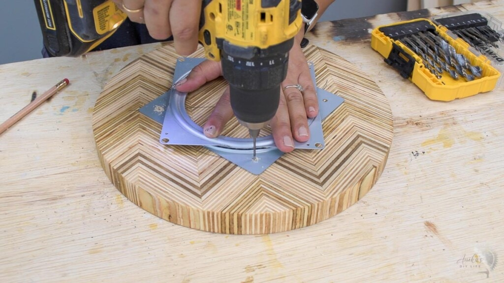 making countersink holes on the top of the lazy susan