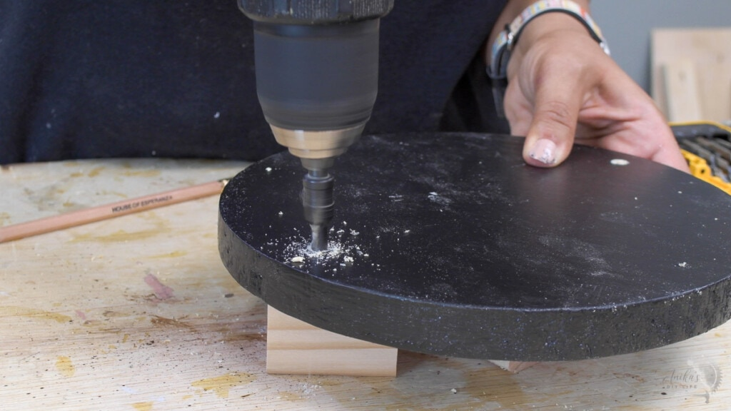 making countersink holes on the lazy susan round