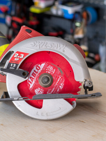 A complete beginner's guide on how to use a circular saw to make straight cuts safely and accurately and build successful projects.