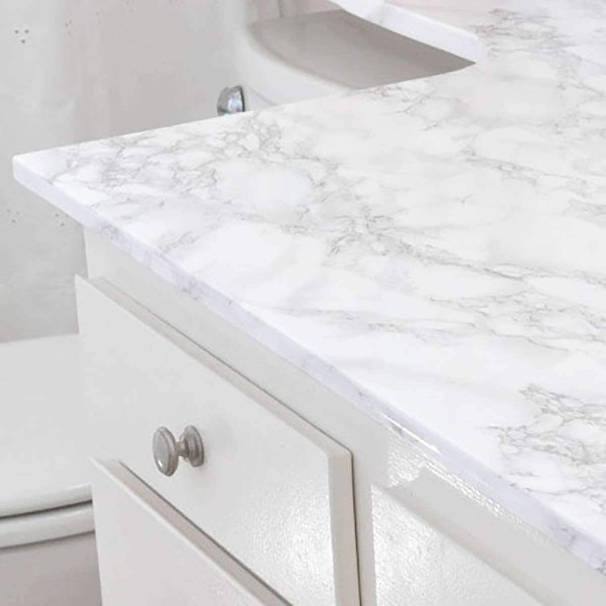 marble contact paper on a counter top
