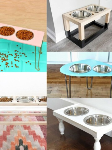 Give your dog a n awesome place to eat with these easy and DIY dog bowl stand ideas that you can build today!