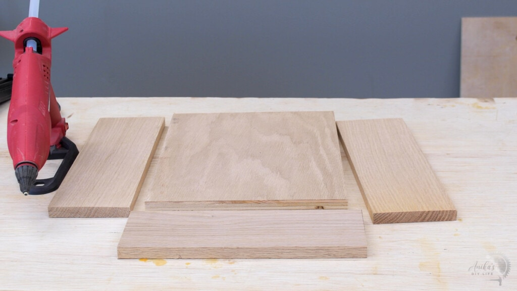 boards on workbench ready to build a charging station